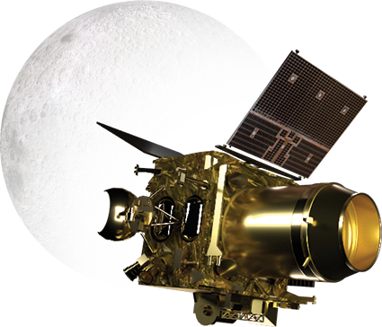 An artist's impression of the Chandrayaan 2 orbiter. Image: ISRO