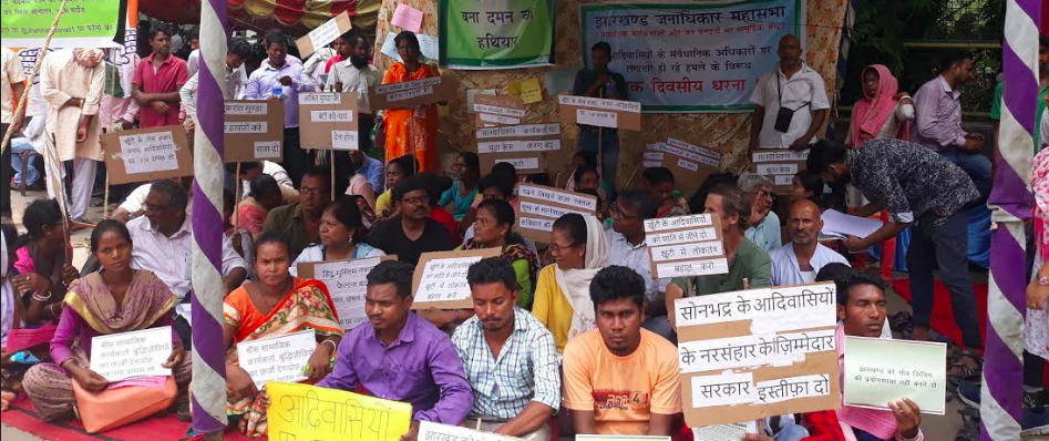 Activists Protest Repression of Tribals Engaged in Pathalgadi Movement