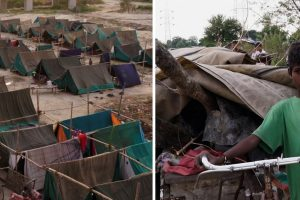 Watch | Delhi's Flood Affected Families Take Shelter in Makeshift Tents on DND Flyway
