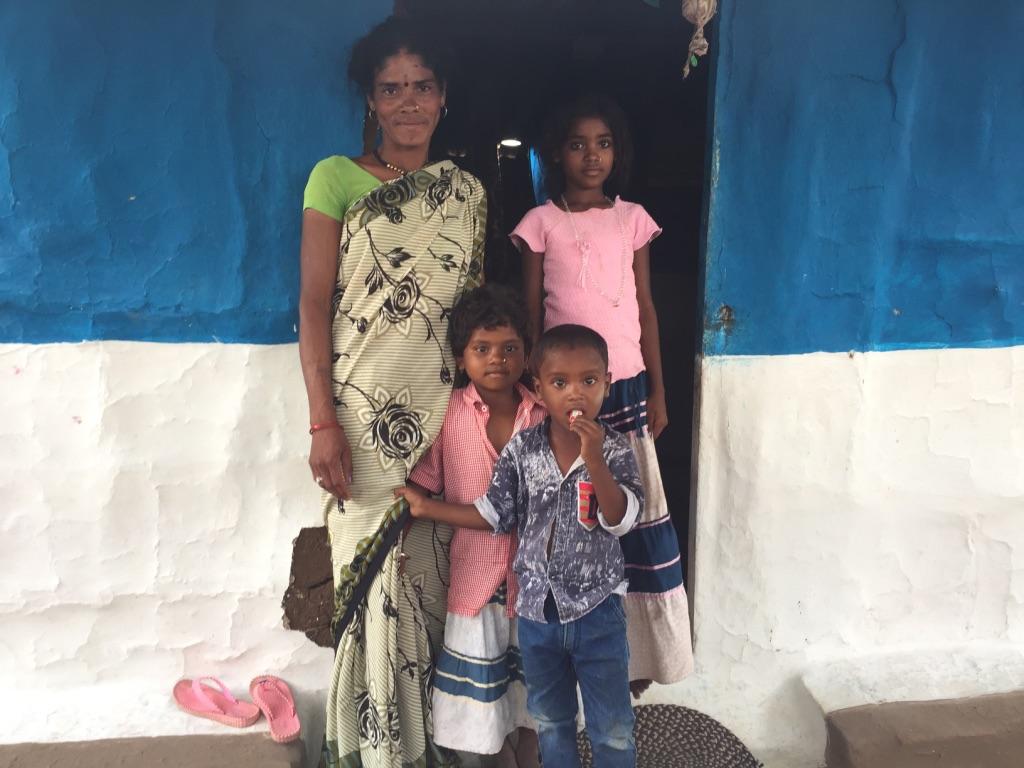 Sheetal Sandeep Tekam with her children. Photo: Vandana K
