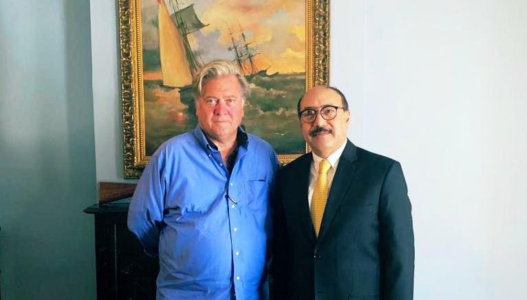 Indian Ambassador Meets Steve Bannon, Calls Him 'Dharma Warrior,' Deletes Tweet