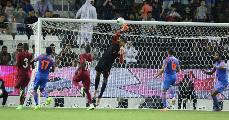 World Cup Qualifiers India vs Qatar match in action
