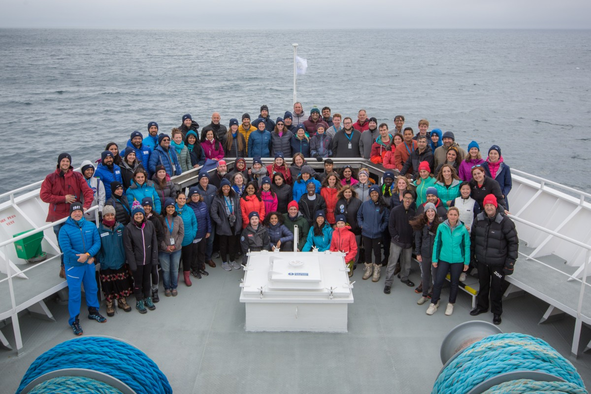 Members of the Climate Force Arctic 2019 expedition. Photo: Trenton T. Branson