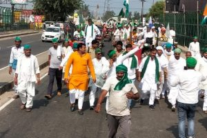 1,500 Farmers' March From UP For Sugarcane Due to End in Delhi on Saturday