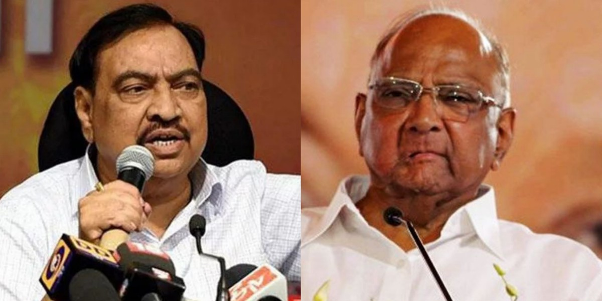 BJP's Khadse Joins Opposition in Expressing Doubts Over Case Against Sharad Pawar
