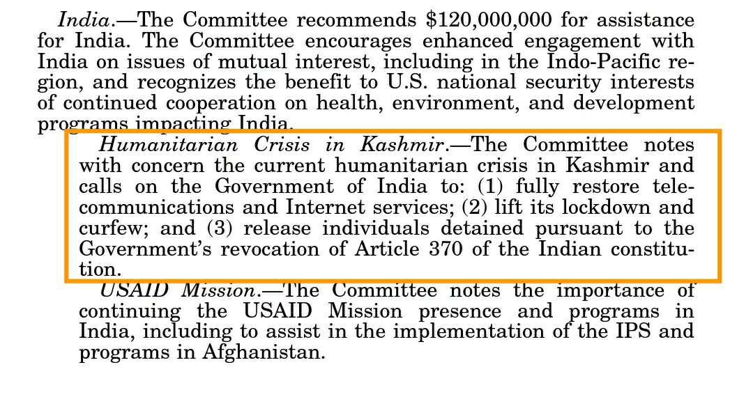 United States  lawmakers take action to end Kashmir's humanitarian crisis