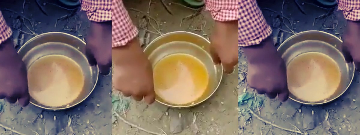Video Shows Children in UP School Eating 'Rice and Turmeric Water' in Midday Meal