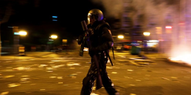 Spain Barcelona Rocked By Third Day Of Violent Unrest