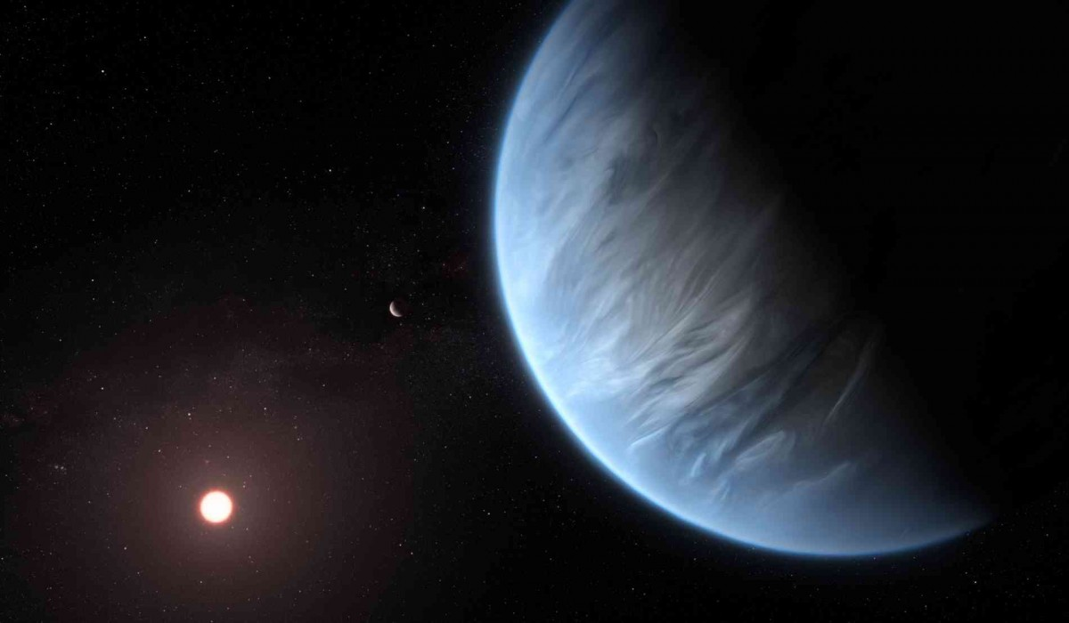 An artist's impression of K2-18b, a super-Earth exoplanet whose habitability has been debated by scientists. Photo: NASA/Reuters