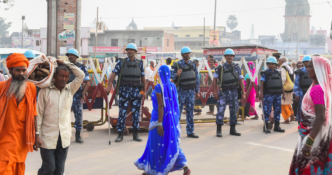 Ayodhya Sees Massive Security Beef-Up Before Verdict, 4,000 CAPF Personnel Deployed