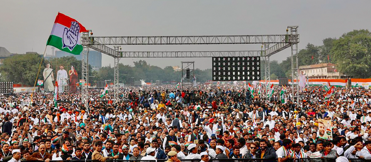 'Bharat Bachao': Congress Leaders Turn Up Heat on Modi Govt at Delhi Rally