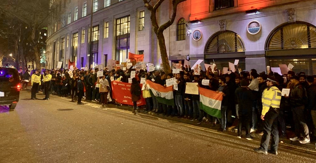 Indian Students, Workers in London Protest Against CAA, NRC