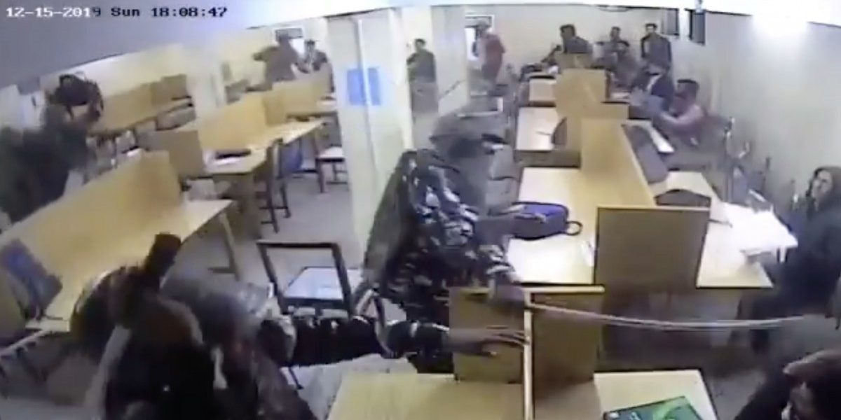 Purported CCTV Footage Shows Police Attacking Students in Jamia Library on Dec 15
