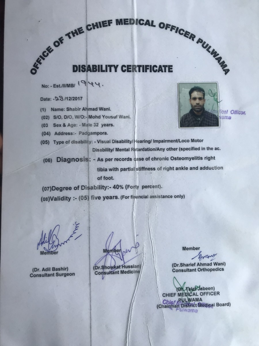 People With Disabilities Are Being Detained Under PSA in Kashmir