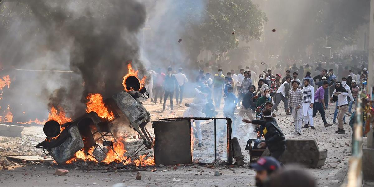 Image result for delhi voilence  image