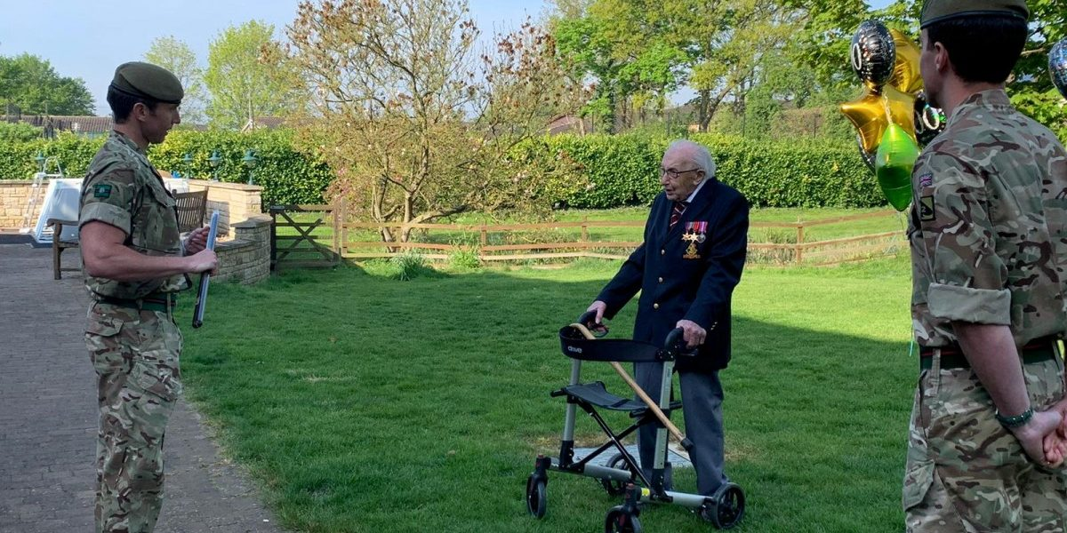 WWII veteran, 99, raises £18m for UK health workers