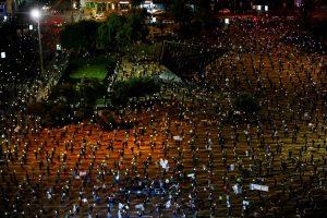 Amidst Coronavirus Restrictions, Thousands March Against Netanyahu