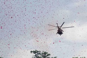 Some Thorny Questions About the Military's Rose Petal Show for 'Corona Warriors'