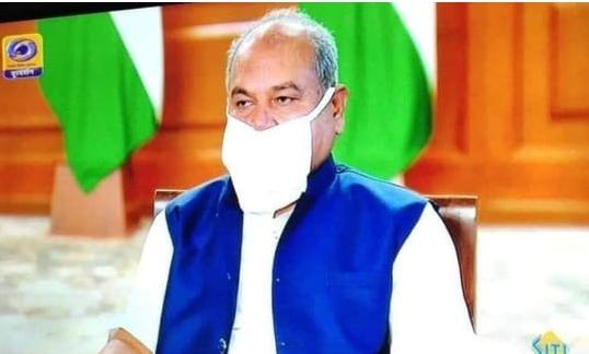 Facebook Post Mocks Union Minister for Wearing Mask Wrongly, MP Police File Criminal Case