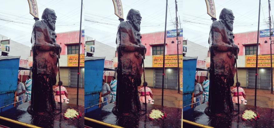 Tamil Nadu: Vandals Smear Periyar's Statue With Saffron Paint