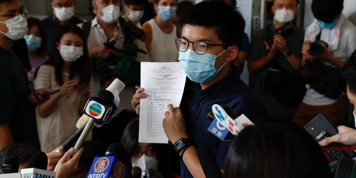 Hong Kong Activist Joshua Wong Says His Disqualification From Poll 'Invalid and Ridiculous'