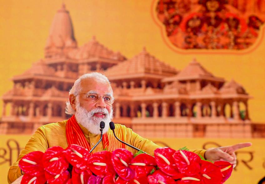 From 'Jai Shri Ram' to 'Jai Siya Ram', Modi Tempers Mandir Battle Cry, For Now at Least