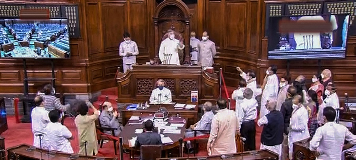After Eight Opposition Members Suspended, Rajya Sabha Adjourned Until Tuesday