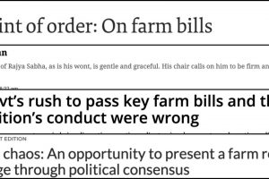 Farm Bills: English Newspapers Condemn RS Deputy Chairman's Decision to Hold Voice Vote