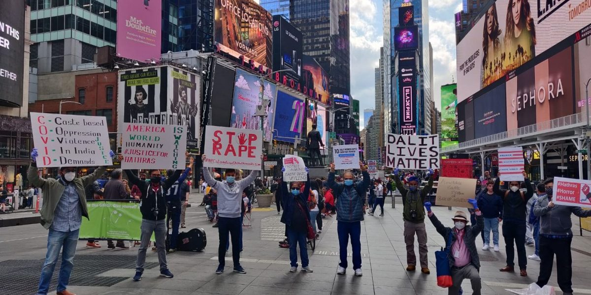 Hathras Case: NRIs Stage Protest at Times Square Demanding Justice