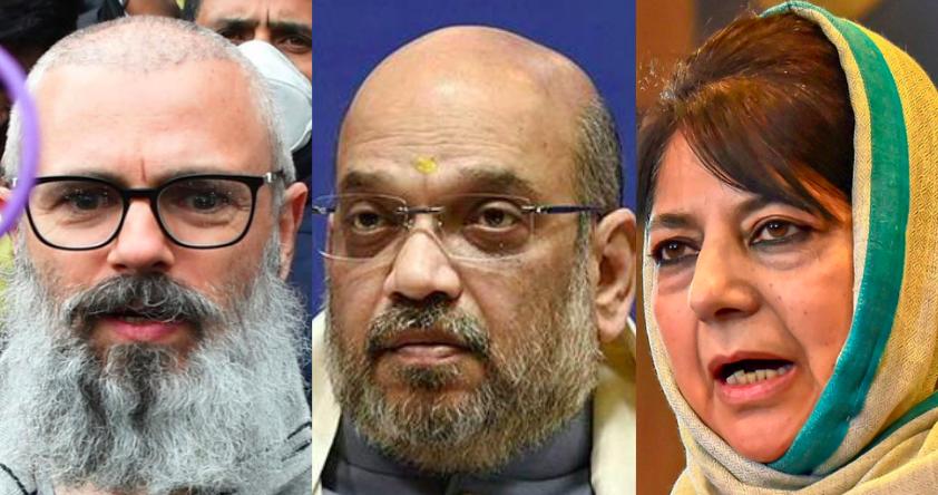 Amit Shah Calls J&K Alliance 'Gupkar Gang'; Omar Abdullah, Mehbooba Mufti Hit Back