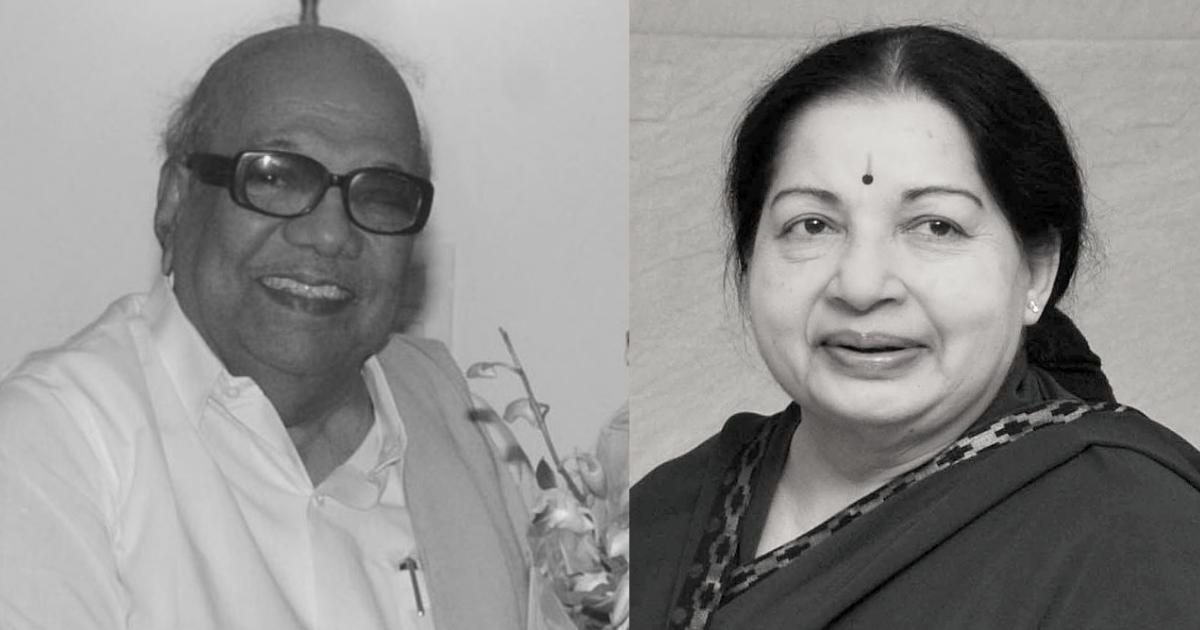 M. Karunanidhi and J. Jayalalithaa