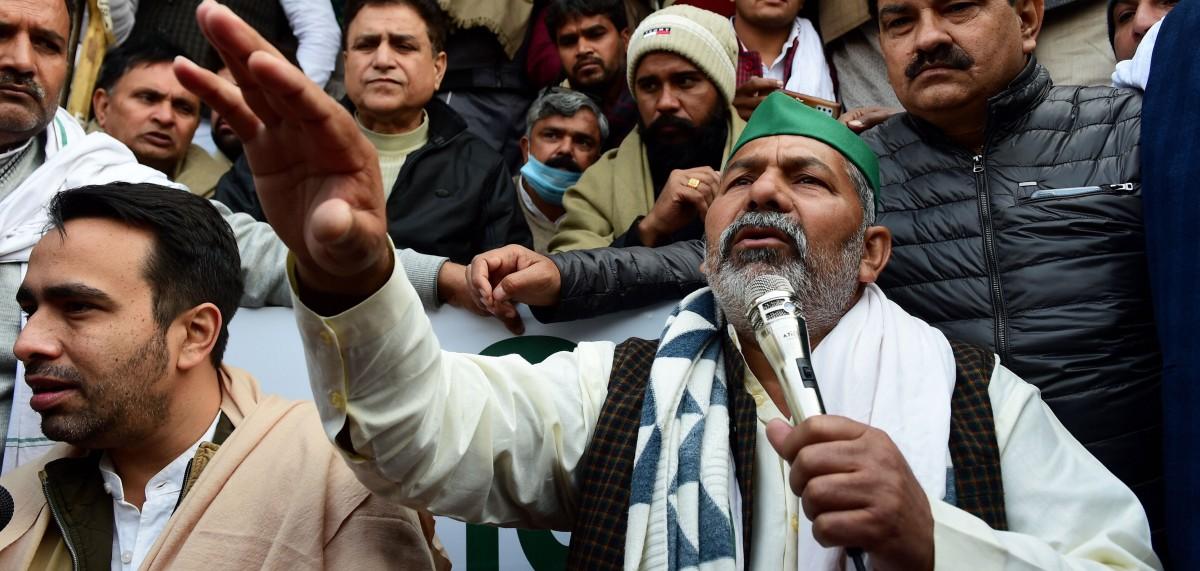 Like His Father, Rakesh Tikait Proves to Be Delhi's Achilles' Heel