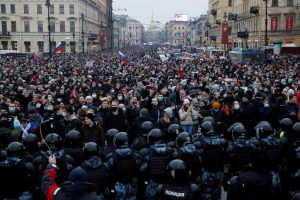 Hundreds Detained as Russians Demand Alexei Navalny's Release