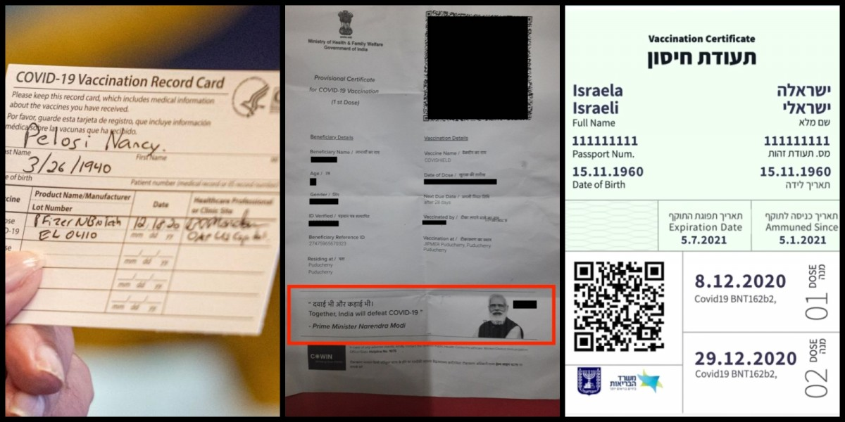 Modi Only World Leader to Use COVID Vaccination Certificate to Push Cult of Personality