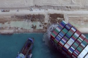 Suez Canal Authority Says Stranded Container Ship Has Been 'Partially Refloated'