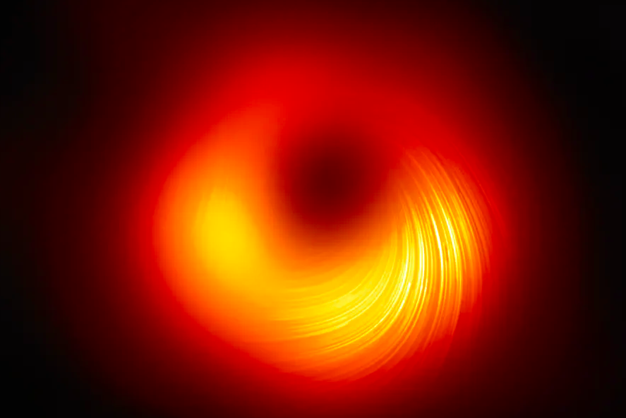 What the First Image of a Black Hole's Magnetic Field Has Revealed - The Wire Science