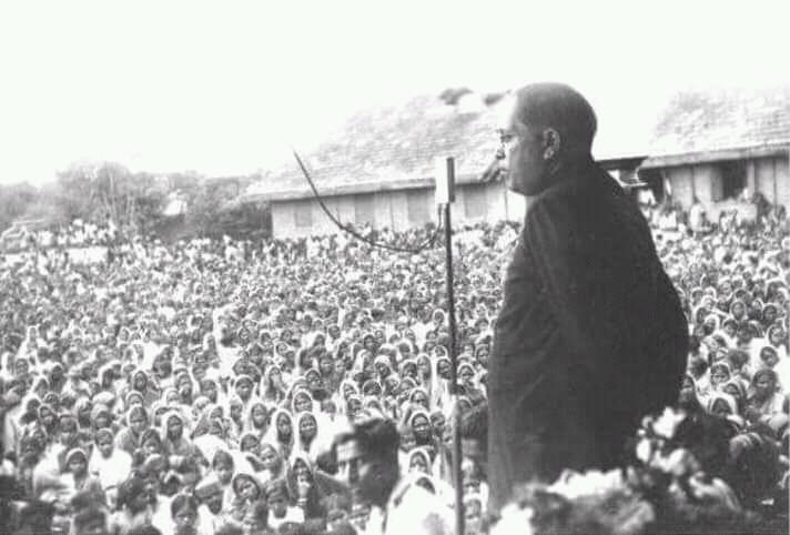 Dr. Babasaheb Ambedkar delivering a speech 2