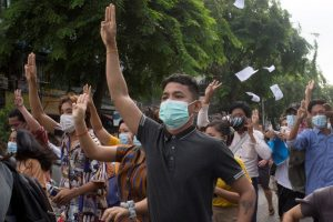 Hundreds of Myanmar Activists Hold Flash Mob Protest Against Military Rule