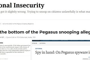 Pegasus: Newspapers Say Allegations Strike at the Heart of Democracy, Demand Probe