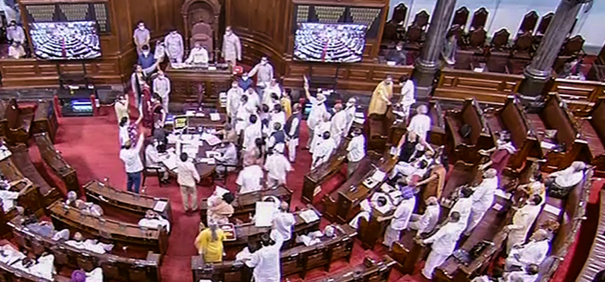 Union Govt Unrelenting, 6 TMC MPs Suspended from RS Over Protests on Pegasus