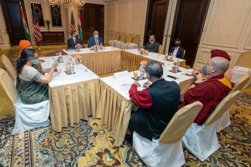 Blinken's Meeting with Dalai Lama Representatives in New Delhi Riles China