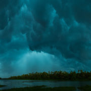 Monsoon clouds over the Chalakudy River. Photo: Jan Joseph George/Wikimedia Commons, CC BY-SA