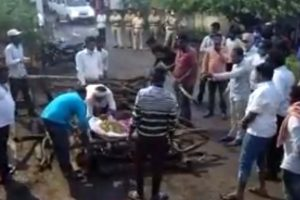 Solapur: Dalit Man's Body Cremated Outside Panchayat Office After Caste Hindus Deny Access to Cremation Ground