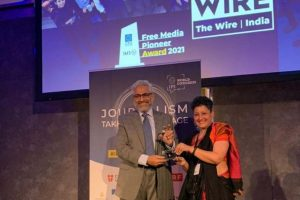 The Wire Receives Free Media Pioneer Award 2021 at Vienna Ceremony