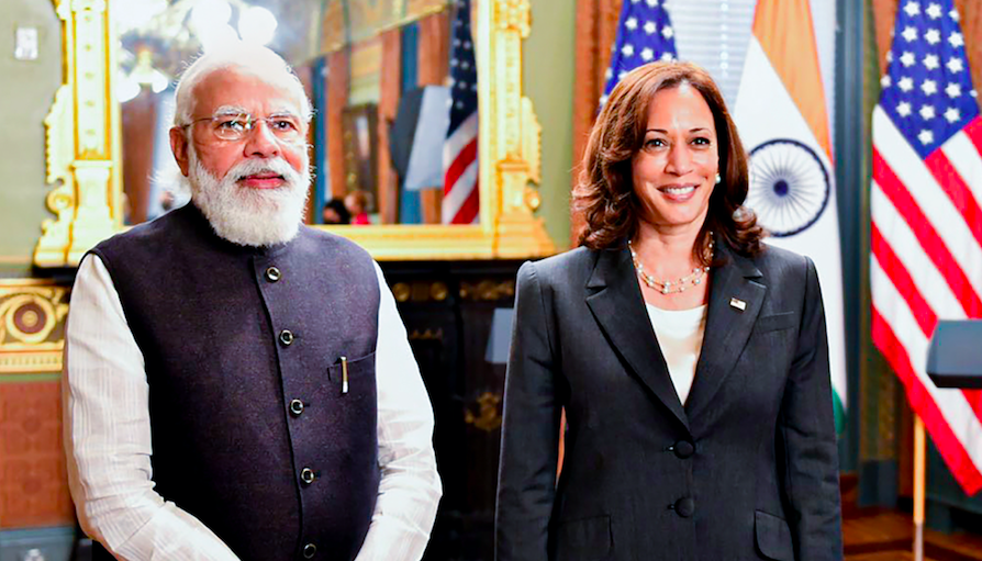 At First Meeting with PM Modi, Harris Talks of Strengthening Democracies, Pak Role in Terror