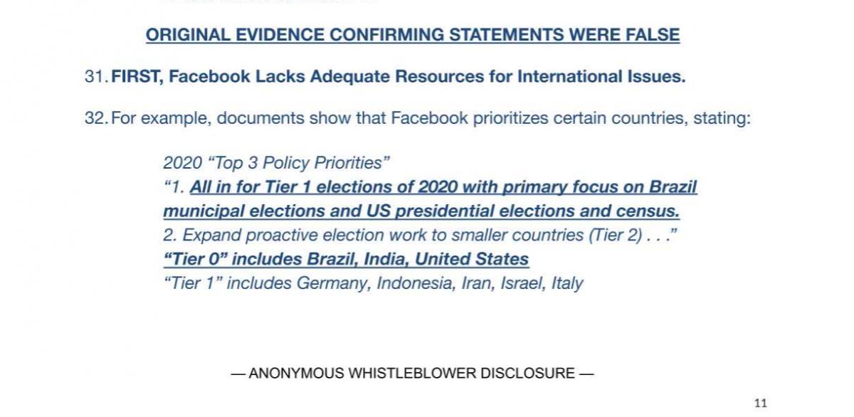Credit: Whistleblower complaint to SEC.