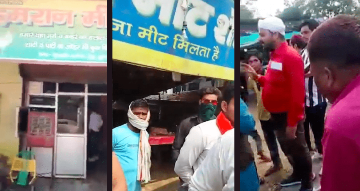 Videos of Hindutva Groups Forcibly Shutting Down Meat Shops For Navratri Emerge From Haryana, MP, UP