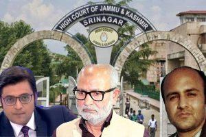 JK High Court Quashes Defamation Case Against Arnab Goswami, Aditya Raj Kaul